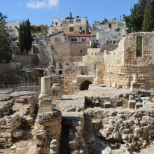 The archaeological digs around the Pool of Bethesda