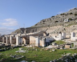 The ruins of the ancient Biblical city of Philippi